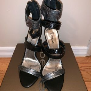 BEBE Strappy Sandal Heels